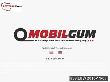 Zrzut strony Mobilny serwis opon - Warszawa, Mobilgum