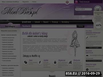 Zrzut strony Na ModBiS.pl - Butik dla kobiet z klasą