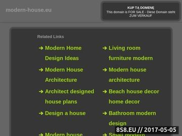 Zrzut strony Modern House to nowoczesne biuro projektowe zorientowane na potrzeby klienta