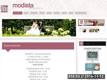 Zrzut strony Modista.pl - pracownia krawiecka, Agnieszka Rogowska