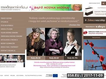 Zrzut strony Modnaseniorka.pl - wybrana moda dla wybranych kobiet!