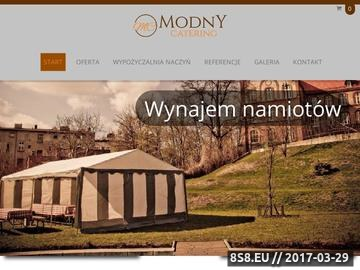 Zrzut strony Catering Poznań