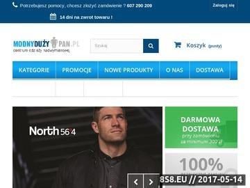 Zrzut strony Modnyduzypan.pl - odzież XXL