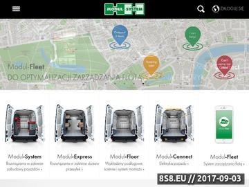 Zrzut strony MODUL-SYSTEM zabudowa samochodów warsztatowych