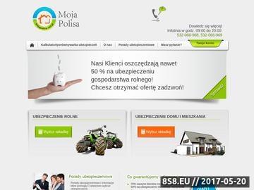 Zrzut strony MojaPolisa.net.pl - ubezpieczenia rolnicze