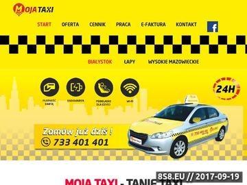 Zrzut strony Moja Taxi Białystok