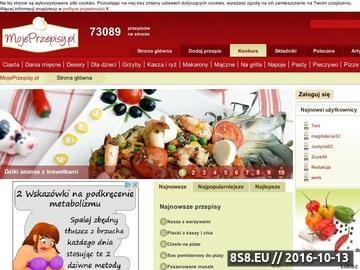 Zrzut strony Mojeprzepisy.pl - gotowanie