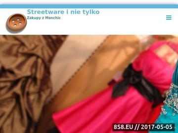 Zrzut strony Moda włoska - butik Monchic.pl