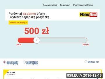 Zrzut strony Moneynow.pl - sprzedaż złota