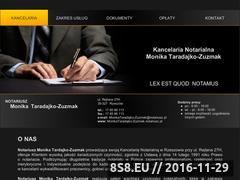 Miniaturka domeny www.monikataradajko-zuzmak.notariusz.pl