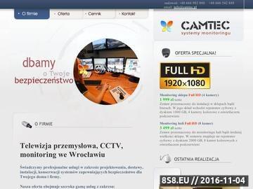 Zrzut strony Camtec