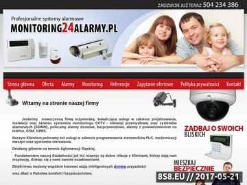 Zrzut strony Telewizja przemysłowa - monitoring CCTV. Systemy alarmowe. Integracja systemów