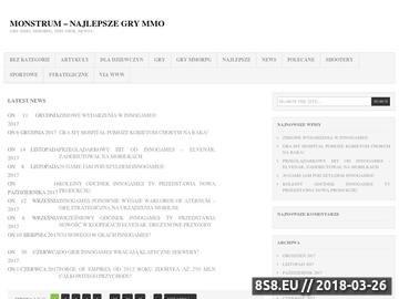 Zrzut strony Monstrum.com.pl - MMORPG
