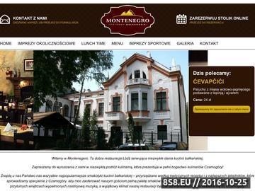 Zrzut strony Restauracja Montenegro oferuje dania kuchni bałkańskiej