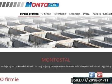 Zrzut strony Konstrukcje stalowe - Montostal