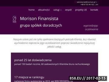 Zrzut strony Badanie sprawozdania finansowego Morison.pl