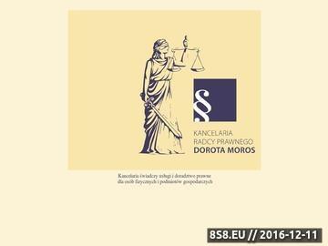 Zrzut strony Kancelaria radcy prawnego Dorota Moros - porady prawne