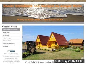 Zrzut strony Domki letniskowe na wyspie Wolin