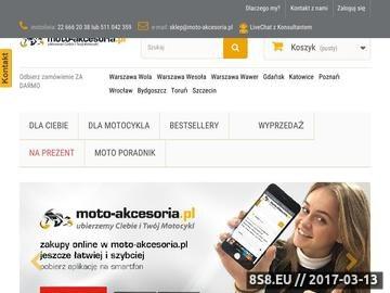Zrzut strony Akcesoria motocyklowe - www.moto-akcesoria.pl - sklep motocyklowy
