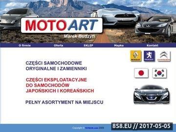 Zrzut strony Części samochodowe Opole - MOTOART