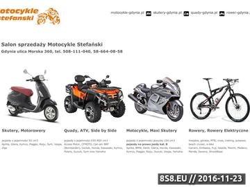 Zrzut strony Sprzedaż, serwis, komis: motocykle, skutery, quady i rowery