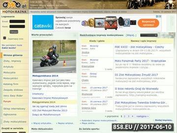 Zrzut strony Imprezy motocyklowe