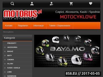Zrzut strony Motorus.pl - Sklep Motocyklowy