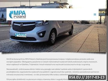 Zrzut strony MPA Poland - wycieczki, wynajem autokarów, przewóz VIP