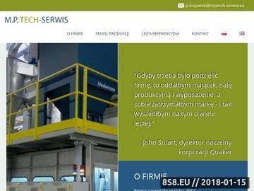 Zrzut strony Specjalne linie technologiczne - MPTECH-SERWIS