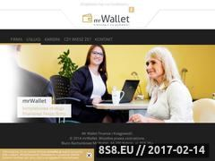 Miniaturka Usługi finansowe - Mr. Wallet (www.mrwallet.pl)