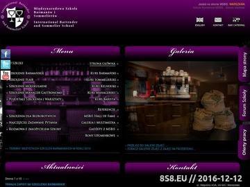 Zrzut strony Międzynarodowa Szkoła Barmanów i Sommelierów (MSBiS)