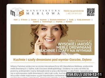Zrzut strony Kuchnie drewniane Gorzów Wielkopolski