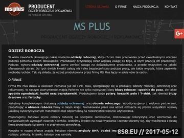 Zrzut strony MS Plus buty robocze Poznań