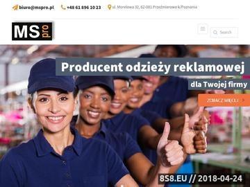 Zrzut strony Kamizelki ostrzegawcze MS PRO