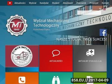 Zrzut strony Kierunki Studiów Inżynierskich