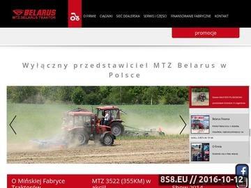 Zrzut strony Białoruskie traktory