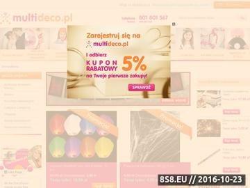 Zrzut strony Multideco.pl - dekoracje na wesele