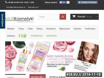 Zrzut strony Sklep z kosmetykami online