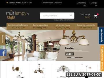 Zrzut strony Lampy, żyrandole, kinkiety oraz abażury