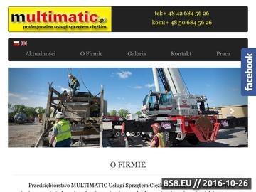Zrzut strony Multimatic Sp. z o.o. - usługi dźwigowe Łódź