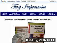 Miniaturka domeny multimedialnewarsztatywokalne.twoj-impresariat.pl