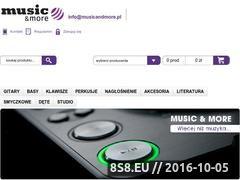 Miniaturka domeny musicandmore.pl