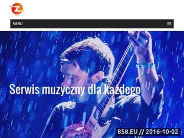 Zrzut strony Portal muzyczny wraz z wyszukiwarką artystów, koncertów i imprez