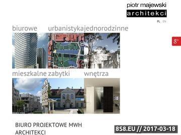 Zrzut strony Architekci Warszawa - Piotr Majewski