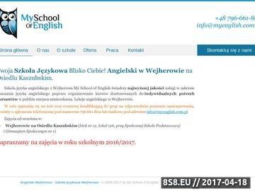 Zrzut strony Szkoła językowa Wejherowo