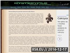 Thumbnail of Ancient Mysteries & the Unexplained Past Website