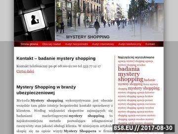 Zrzut strony Badania Mystery Shopping