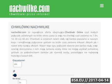 Zrzut strony NaChwilke.com chwilówki przez Internet