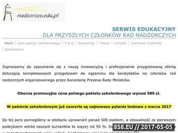 Zrzut strony Kurs i egzamin dla członków rad nadzorczych