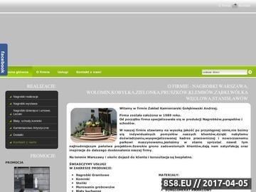 Zrzut strony Zakład kamieniarski - parapety